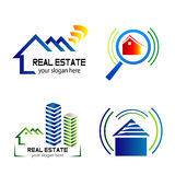 Collection of vector logos construction and home improvement Stock Images