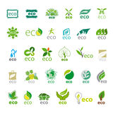 Collection of vector logos eco Royalty Free Stock Photo
