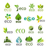 Collection of vector logos eco Royalty Free Stock Photos