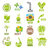Collection of vector logos eco Royalty Free Stock Images