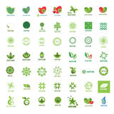 Collection of vector logos eco and nature Royalty Free Stock Photos