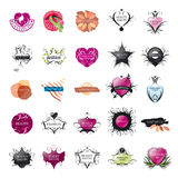 Collection of vector logos Fashion and Beauty Royalty Free Stock Photo