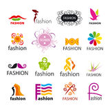 Collection of vector logos fashion Royalty Free Stock Photos