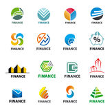 Collection of of vector logos Finance Stock Photo