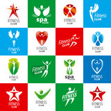 Collection of vector logos for fitness clubs. Biggest collection of vector logos for fitness clubs Royalty Free Stock Photography