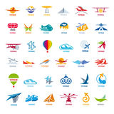Collection of vector logos flights Stock Photo