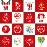 Collection of vector logos for gifts Stock Photo