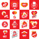 Collection of vector logos for gifts Stock Images