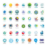 Collection of vector logos Globe stock illustration