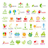 Collection of vector logos health Royalty Free Stock Photos