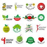 Collection of vector logos healthy eating Stock Photography