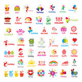 Collection of vector logos and holiday gifts Stock Image