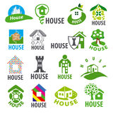 Collection of vector logos homes Stock Photography