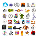 Collection of vector logos hotels for leisure tourism Royalty Free Stock Image