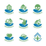 Collection of vector logos insurance Stock Photo