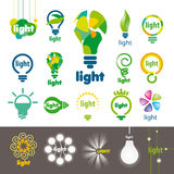 Collection of vector logos lamps Royalty Free Stock Photos