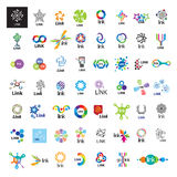 Collection of vector logos link communication