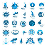 Collection of vector logos marina Stock Image