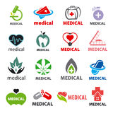 Collection of vector logos medical Royalty Free Stock Images