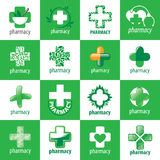 Collection of vector logos for medicine Stock Image