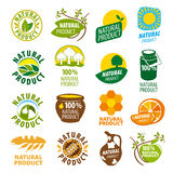 Collection of vector logos natural product Royalty Free Stock Image