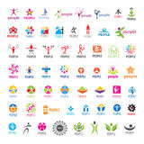 Collection of vector logos people Royalty Free Stock Image