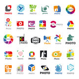 Collection of vector logos for the photographer Stock Images