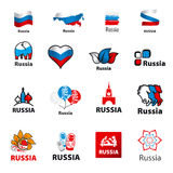 Collection of vector logos Russia Stock Photo
