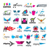 Collection of vector logos of shipping Stock Photography