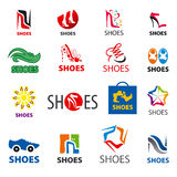 Collection of vector logos shoes Stock Images