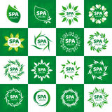 Collection of vector logos for spa salon Stock Photography
