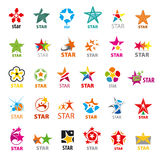 Collection of vector logos stars Stock Photo