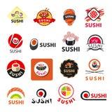 Collection of vector logos sushi Stock Photos