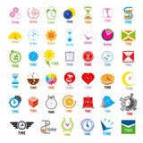 Collection of vector logos time Royalty Free Stock Photo