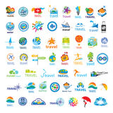 Collection of vector logos Travel. Biggest collection of vector logos Travel Royalty Free Stock Photography