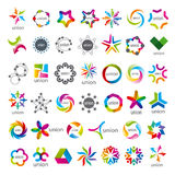 Collection of vector logos Union Stock Images