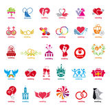 Collection of vector logos wedding Stock Photo