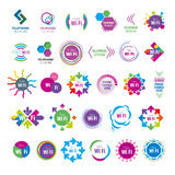 Collection of vector logos Wifi Royalty Free Stock Photos