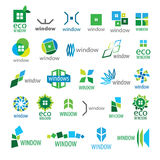 Collection of vector logos window Stock Photos