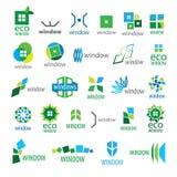 Collection of vector logos window Stock Photos