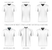 Collection of vector men sport clothes Stock Image