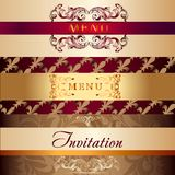 Collection of vector menu cards in vintage Royalty Free Stock Image