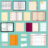 Collection of vector notebooks Royalty Free Stock Photo
