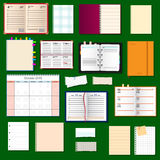 Collection of vector notebooks Royalty Free Stock Photography