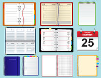 Collection of vector notebooks Royalty Free Stock Photos