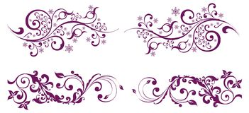 Collection of vector ornaments royalty free illustration
