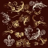 Collection of vector ornaments Royalty Free Stock Photo