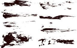 Collection of vector paint splatters Royalty Free Stock Photos