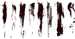 Collection of vector paint splatters. For your art design element Royalty Free Stock Photography