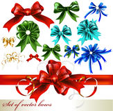 Collection of vector realistic bows Royalty Free Stock Photos